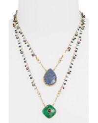 Gas Bijoux - Blue Scapulaire Convertible Pendant Necklace - Lyst