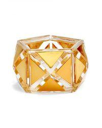 Tory Burch - Metallic Pyramid Stretch Bracelet - Lyst