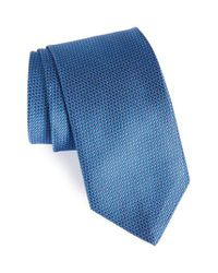 David Donahue | Blue Solid Silk Tie for Men | Lyst