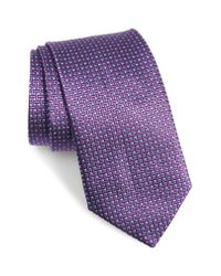 David Donahue - Multicolor Geometric Silk X-long Tie for Men - Lyst