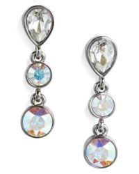 c96d813ff St. John Swarovski Crystal Drop Earrings in Blue - Lyst