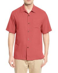 Tommy Bahama | Multicolor 'catalina Twill' Original Fit Silk Camp Shirt for Men | Lyst