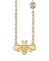 Shy By Sydney Evan - Metallic Bee Pendant Necklace - Lyst