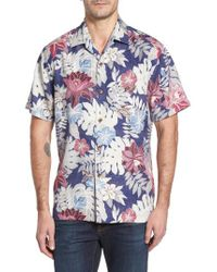 Tommy Bahama | Blue Desert Blooms Original Fit Print Silk Camp Shirt for Men | Lyst