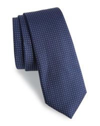Calibrate - Blue Dot Silk Tie for Men - Lyst