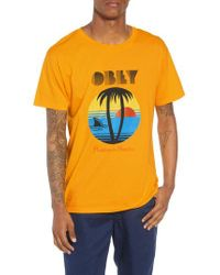 Obey - Metallic Problems In Paradise Graphic T-shirt for Men - Lyst