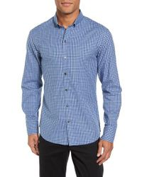 Zachary Prell - Blue Kapur Slim Fit Check Sport Shirt for Men - Lyst