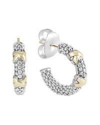 Lagos - Metallic 'diamond Lux' Diamond Small Hoop Earrings - Lyst