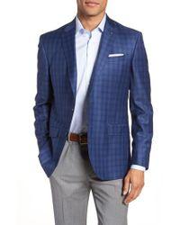 Ted Baker - Blue Jay Trim Fit Windowpane Wool Sport Coat for Men - Lyst