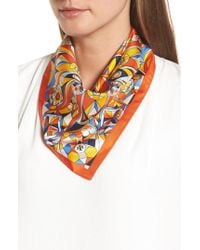 Tory Burch Multicolor Psychedelic Geo Silk Neckerchief