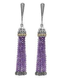 Lagos - Multicolor Caviar Icon Tassel Drop Earrings - Lyst