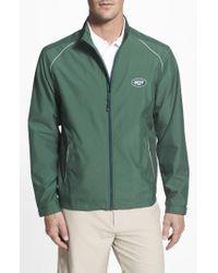 Cutter & Buck - Green 'new York Jets - Beacon' Weathertec Wind & Water Resistant Jacket for Men - Lyst