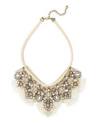 BaubleBar - Gray Montana Crystal Tassel Bib Necklace - Lyst