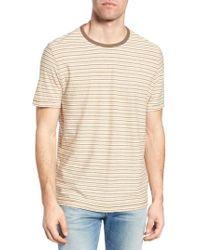 Jeremiah - Natural Bengal Reverse Stripe T-shirt for Men - Lyst