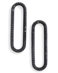 Michael Kors - Black Crystal Drop Earrings - Lyst