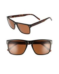 Ted Baker | Brown 56mm Polarized Rectangle Sunglasses | Lyst
