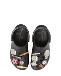 Balenciaga - Black X Crocs(tm) Foam Embellished Platform Clog - Lyst