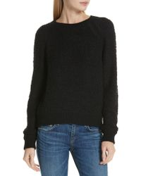 Rag & Bone - Black Rag & Bone Brooke Teddy Sweatshirt - Lyst