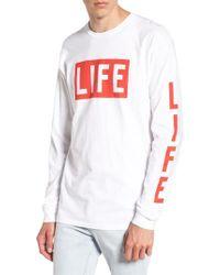 Altru - White Life Logo Long Sleeve T-shirt for Men - Lyst