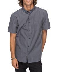 Quiksilver - Gray Valley Grove Woven Shirt for Men - Lyst