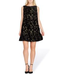 Tahari - Black Burnout Velvet Dress - Lyst