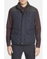 Vince Camuto - Blue Quilted Vest for Men - Lyst