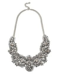 BaubleBar - Metallic Ice Queen Crystal Statement Necklace - Lyst