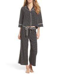 Kate Spade | Black Crop Pajamas | Lyst