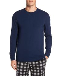 Nordstrom - Blue Stretch Cotton Long Sleeve T-shirt for Men - Lyst