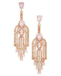 Adia Kibur - Pink Crystal Drop Earrings - Lyst