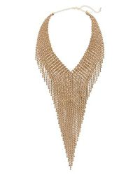 Natasha Couture - Metallic Drama Necklace - Lyst