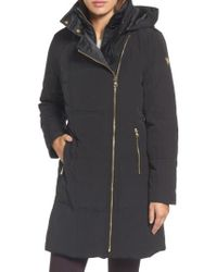 Vince Camuto - Black Down & Feather Fill Coat - Lyst