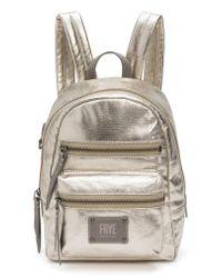 Frye - Mini Ivy Metallic Nylon Backpack - Lyst