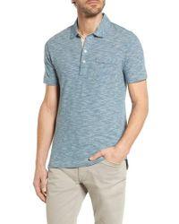 Billy Reid - Blue Stripe Jersey Polo for Men - Lyst