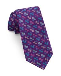 Ted Baker - Purple Floral Silk Tie for Men - Lyst