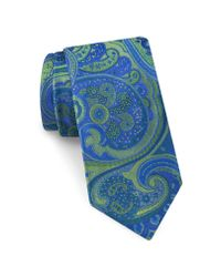 Ted Baker - Blue Elegant Paisley Silk Tie for Men - Lyst
