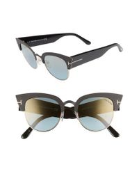 Tom Ford - Multicolor Alexandra 51mm Sunglasses - Lyst