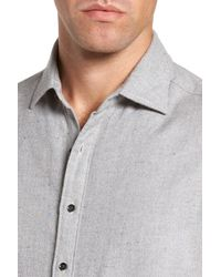 RODD AND GUNN - Gray Cardwell Nep Flecked Sport Shirt for Men - Lyst