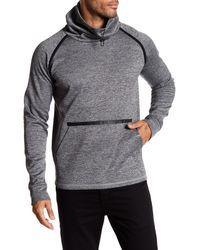 BLANC NOIR - Gray Deflection Funnel Neck Pullover for Men - Lyst