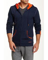 DIESEL - Blue Brandon Z Hooded Sweatshirt for Men - Lyst