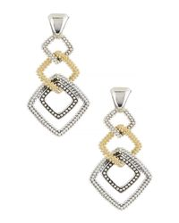 Lagos | Metallic 18k Gold & Sterling Silver Soiree Square Dangle Earrings | Lyst