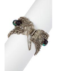 Sorrelli - Metallic Emerald City Multi-strand Crystal Bead Bracelet - Lyst