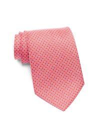 Ferragamo - Red Geo Print Silk Tie for Men - Lyst