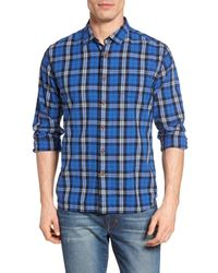 Grayers - Blue Seaford Plaid Poplin Sport Shirt for Men - Lyst