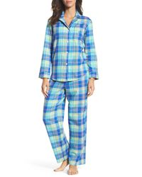 Lauren by Ralph Lauren - Blue Notch Collar Pajamas - Lyst