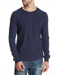 Lucky Brand - Blue Long Sleeve Textured Thermal for Men - Lyst
