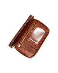 Fossil - Blue Caroline Phone Snake Embossed Leather Wallet Wristlet - Rfid Protection - Lyst