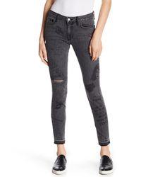 Siwy - Black Lauren Graphic Print Jeans - Lyst