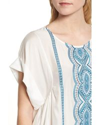 Ella Moss - Natural Embroidered Top - Lyst