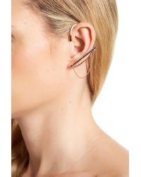 Rebecca Minkoff - Natural Pave Chain Ear Cuff - Lyst
